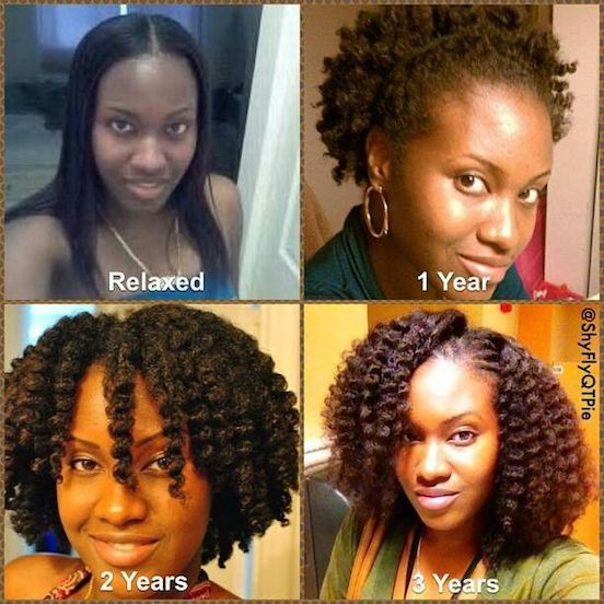 hair chopped to natural