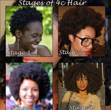 stages of 4c hair